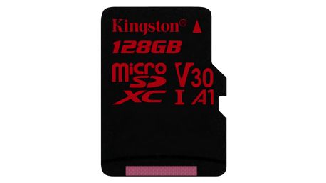 Paměťová karta Kingston Canvas React microSDXC 128GB UHS-I U3 (100R/80W) (SDCR/128GBSP)