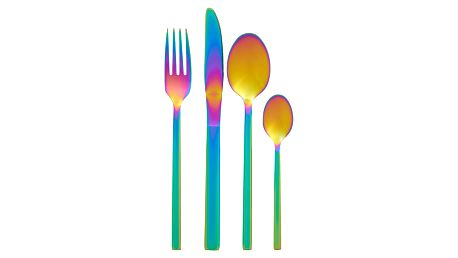 Sada 16 příborů s duhovým efektem Premier Housewares Rainbow