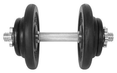 Hřídel jednoruční (30mm) LIFEFIT nakládací jednoruční 17 kg, 6x kotouč - lakované kotouče černá/kovová