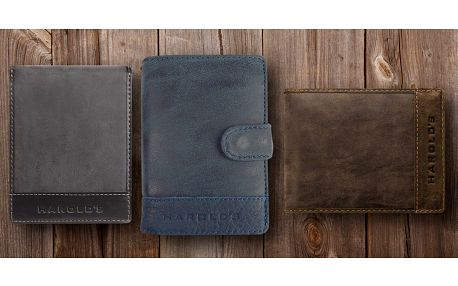 Elegantní pánské kožené peněženky Harold's