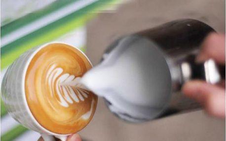 Nerezová konvička na šlehání mléka
