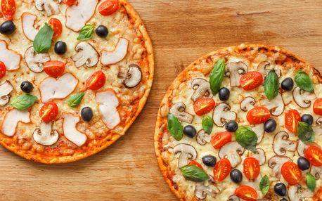 2 pizzy o průměru 32 cm: výběr z 6 druhů