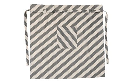 Bloomingville Grilovací zástěra Kit/grey stripe, zelená barva, šedá barva, textil