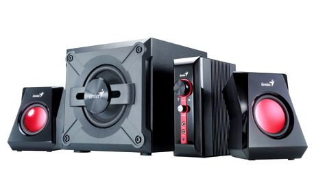 Reproduktory Genius GX Gaming SW-G2.1 1250 černá/červená (31730980100)