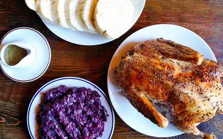 Kachna pro celou rodinu a neomezeně knedlíků