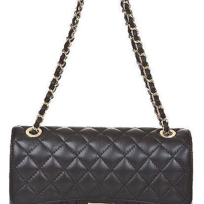 Černá kožená kabelka Markese Verdiana
