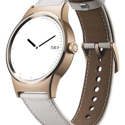 Chytré hodinky TCL MOVETIME bílý/zlatý (MT10G-2ELCE11)
