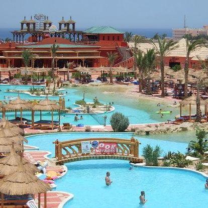Egypt - Hurghada na 8 dní, all inclusive s dopravou letecky z Brna nebo Prahy 500 m od pláže