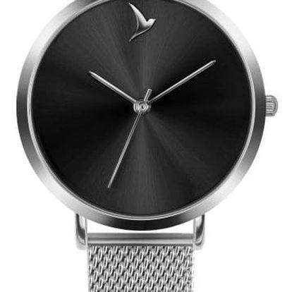 Dámské hodinky s páskem z nerezové oceli ve stříbrné barvě Emily Westwood Black