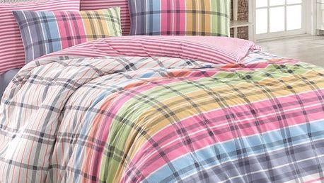 BedTex Bavlněné povlečení Riva fuchsiová, 140 x 220 cm, 70 x 90 cm, 140 x 220 cm, 70 x 90 cm