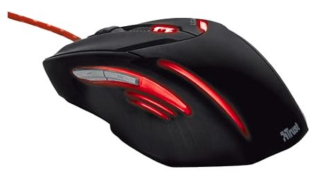 Myš Trust GXT 152 Gaming Illuminated černá/červená (/ optická / 6 tlačítek / 2400dpi) (19509)