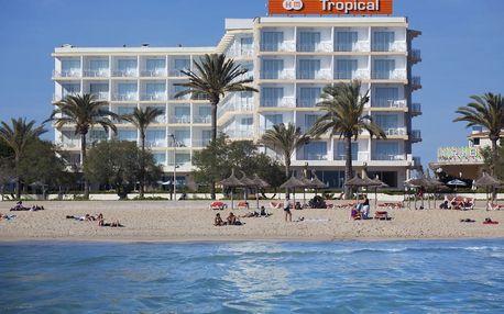 Španělsko - Mallorca na 8 až 9 dní, polopenze nebo snídaně s dopravou letecky z Brna nebo Prahy 30 m od pláže