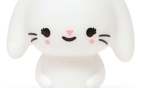PETIT MONKEY Svítící LED zajíček, bílá barva, plast