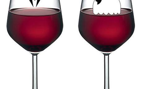 Sada 2 sklenic na víno Vivas Bride & Groom, 345 ml