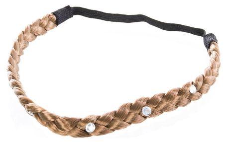 Fashion Icon Čelenka do vlasů copánková velká s krystalky