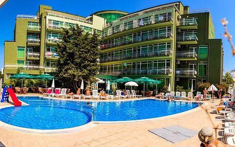 Bulharsko - Slunečné Pobřeží na 8 dní, all inclusive nebo light all inclusive s dopravou letecky z Budapeště nebo Prahy 500 m od pláže