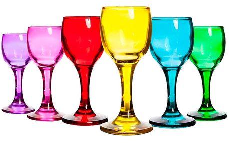 Sada 6 barevných skleniček Mezzo Okyanus, 52 ml
