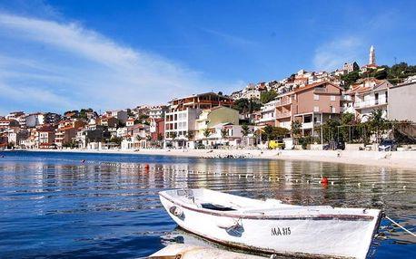 Chorvatsko - Střední Dalmácie na 8 dní, polopenze s dopravou vlastní 80 m od pláže