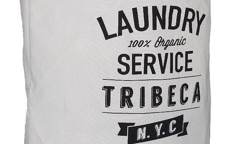 Bílý koš na prádlo s popiskem Premier Housewares Tribeca, 69 l