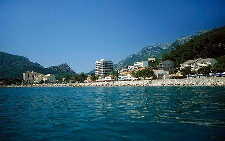 Černá Hora - Sutomore na 10 dní, plná penze nebo polopenze s dopravou autobusem 50 m od pláže