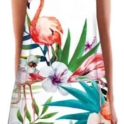 Volné mini šaty s veselým potiskem - různé varianty