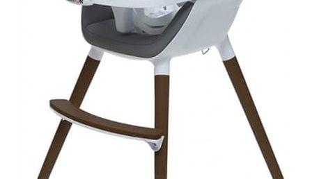 BRITTON Jídelní židlička Fika – tmavě šedá