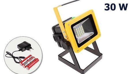 LED Reflektor 30W malý + dobíjecí baterie