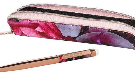 Propiska v růžovozlaté barvě se stylusem a penálem Ted Baker Touch Screen Splendour