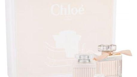 Chloe Chloe Fleur dárková kazeta pro ženy parfémovaná voda 75 ml + tělové mléko 100 ml + parfémovaná voda 5 ml