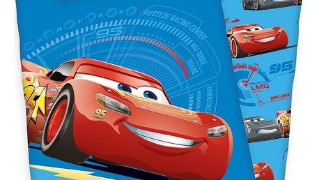 Herding Dětské bavlněné povlečení do postýlky Cars blue, 100 x 135 cm, 40 x 60 cm