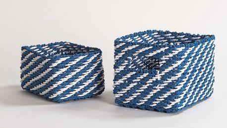 Sada 2 modrých úložných košíků Compactor Basket Claudie