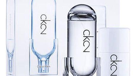 Calvin Klein CK2 EDT dárková sada U - EDT 100 ml + deostick 75 ml