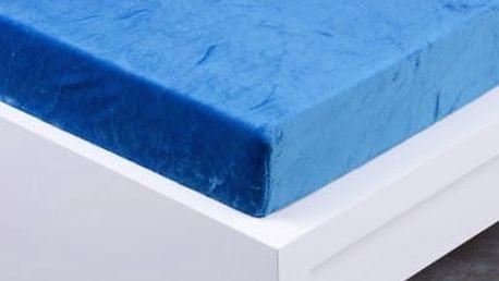 XPOSE ® Prostěradlo mikroflanel Exclusive dvoulůžko - modrá 200x220 cm