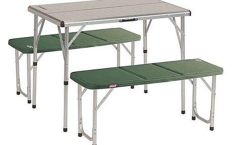 Coleman PACK-AWAY™ TABLE FOR 4 zelený/hliník