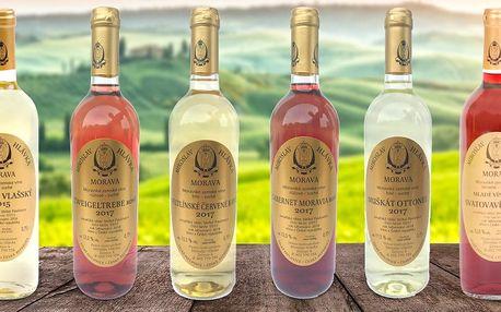 6 přívlastkových moravských zemských vín