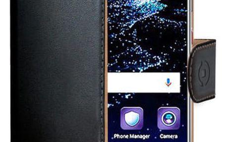 Pouzdro na mobil flipové Celly Wally pro Huawei P10 černé (WALLY644)