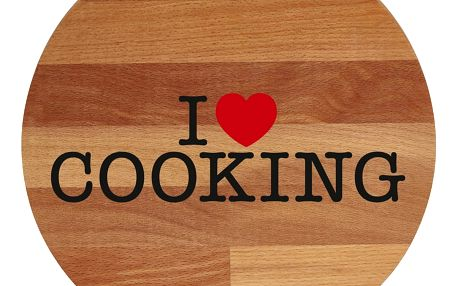 Prkénko z bukového dřeva Bisetti I Love Cooking, 30 cm