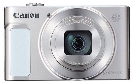 Digitální fotoaparát Canon SX620 HS (1074C002) bílý Pouzdro na foto/video Canon DCC-1500 černé v hodnotě 438 Kč + DOPRAVA ZDARMA