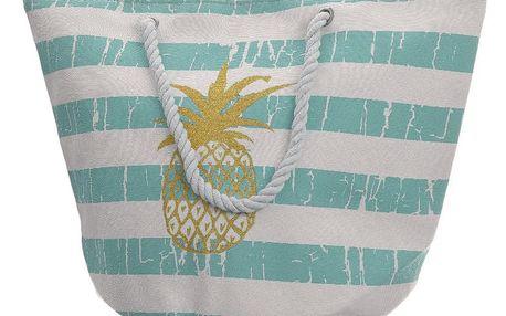 Plážová taška Pineapple mátová, 35 x 38 cm