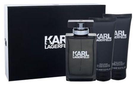 Karl Lagerfeld Karl Lagerfeld For Him dárková kazeta pro muže toaletní voda 100 ml + balzám po holení 100 ml + sprchový gel 100 ml