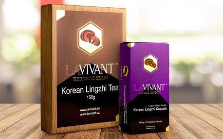 Čaj a kapsle z Lingzhi pro správnou funkci těla