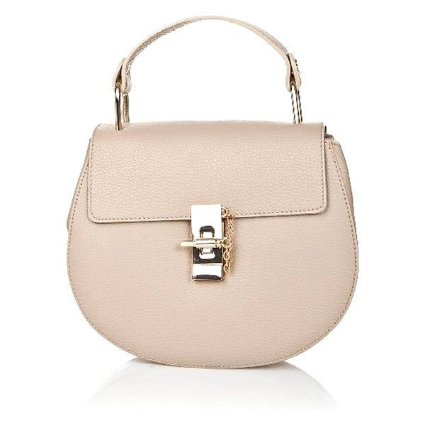 Béžová kožená kabelka Locker - doprava zdarma!