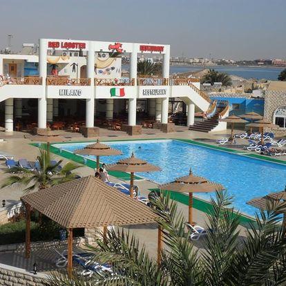 Egypt - Hurghada na 8 až 9 dní, all inclusive s dopravou letecky z Brna nebo Prahy přímo na pláži
