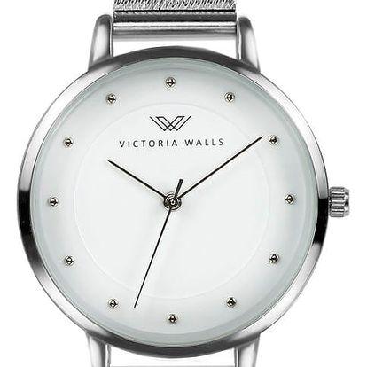 Dámské hodinky s řemínkem z chirurgické oceli Victoria Walls Kumla