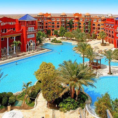 Egypt - Hurghada na 7 až 8 dní, all inclusive s dopravou letecky z Prahy 250 m od pláže