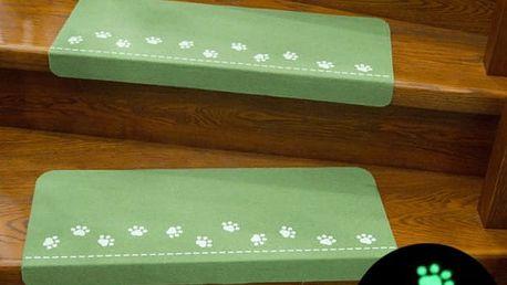 Nášlapný kobereček na schody se svítícími pacičkami - různé barvy