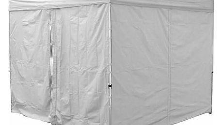 Garthen PROFI 30695 Sada 2 bočních stěn pro zahradní stan 3 x3 m bílá