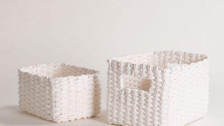 Sada 2 bílých úložných košíků Compactor Basket Claudie