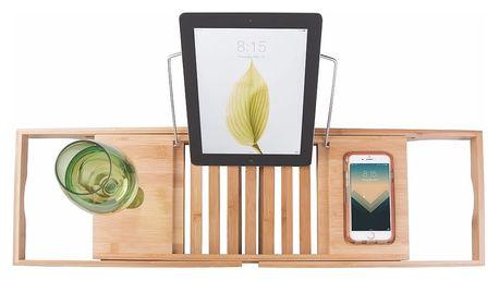 Bambusový nastavitelný odkládací podnos na vanu InterDesign Formbu