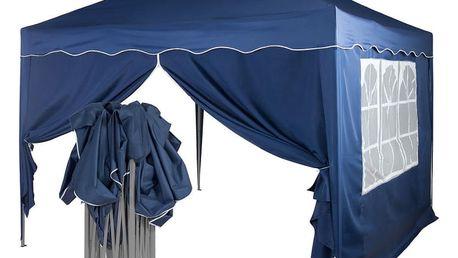 Tuin 36861 Zahradní párty stan nůžkový 3x3 m + 2 boční stěny - modrý